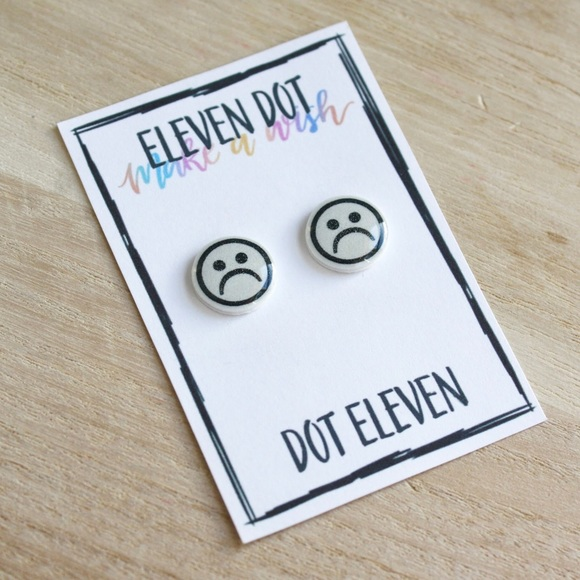 Jewelry Sad Smiley Face Emoji Tumblr Computer Funny Studs Poshmark